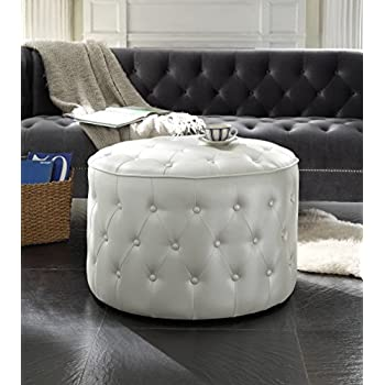 Amazon Com Iconic Home Marley Modern Tufted Beige Leather