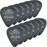 Dunlop 488P1.14 Tortex® Pitch Black, 1.14mm, 12/Player's Pack