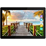 Kivors 3G Touch Tablet 10.1 Inch - Android 7.0-1G RAM + 16GB ROM - 2.5D Curve Screen - 800 x 1280 HD - Dual SIM Card Slots - Dual Camera - Bluetooth - Wifi for Kids Adults (10.1 inch, Black)
