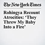 Rohingya Recount Atrocities: 'They Threw My Baby Into a Fire' | Jeffrey Gettleman