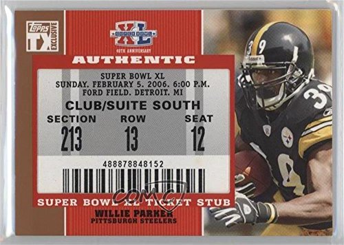 - Willie Parker (Football Card) 2007 Topps TX Exclusive - Super Bowl Ticket Stubs #SB-WP