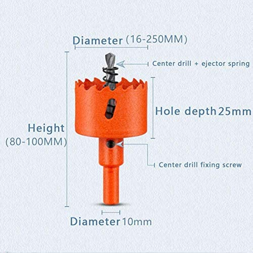 keepmore Bi-Metal Hole Saw - M42 HSS Holesaw Woodworking Hole Opener Cutter Round Hole Drill Bit for Aluminum Iron Wood Saw Tooth (220MM)