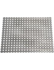 iDesign Secaplatos recortable para fregadero, escurridor de platos y vasos grande de plástico, alfombrilla escurreplatos para secar la vajilla, gris