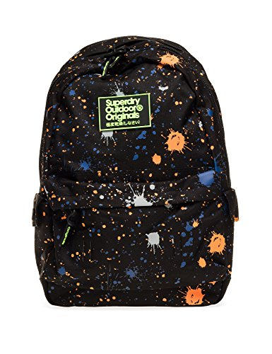 Superdry Men's Summer Splatter Montana Men's Black Backpack Black by Superdry