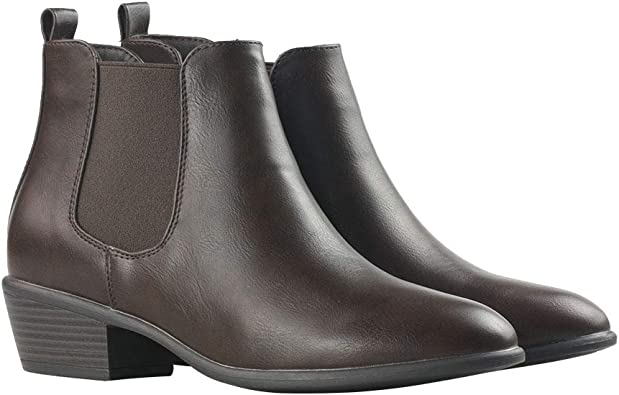 Leather Ankle Boots Ladies