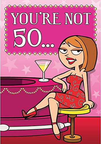 Youre Not 50Youre Just Twice The 25 Year Old You Used To BeHumorous Female Funny Birthday Card Amazoncouk Kitchen Home