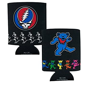 amazon icup grateful dead border huggie koozie 2 pack clear by