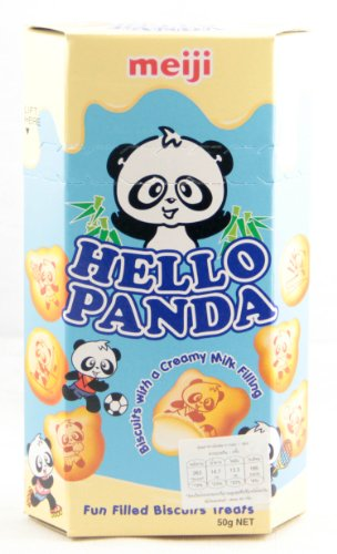 Meiji - Hello Panda Milk Cream Biscuits 50g. Net (Estimate 2.0 Oz.)