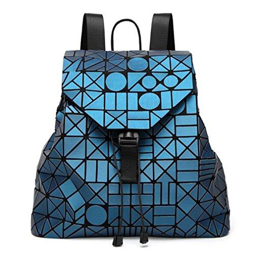 Acqua 12 Studente Sacchetto Geometrica Bianca Zaino Opaca Donna Superficie Logo Famosa Blu Packback Del Kaoling Pacchetto Colori wZUqB47