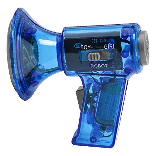 Intelligence Dolls,FTXJ Funny Multi Voice Changer Amplifier 3 Different Voices Fun Toy Speaker Kids Gift (1PCS, Blue) ()