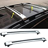 Highitem One Set of 2Pcs Aluminium Alloy Roof Rails Cross Bar Luggage Rack Crossbar Cargo Toproof Racks Cross Bars Luggage Carriers For Jeep Cherokee 2014 2015 2016