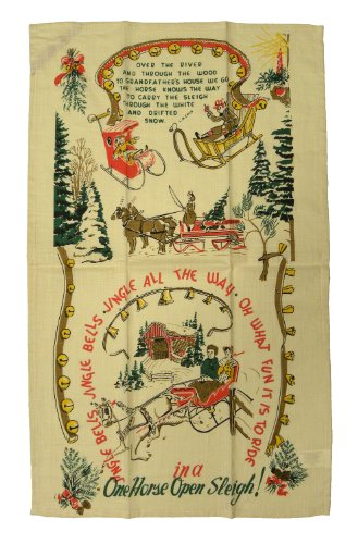 Jingle All the Way Vintage Style Christmas Towel