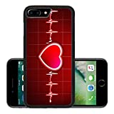 Liili Premium Apple iPhone 7 Plus Aluminum Backplate Bumper Snap Case Abstract heart beats cardiogram 29534721