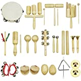 Image of Musical Instruments for Toddlers Early Childhood iPlay iLearn 28 PC Percussion Set Cymbals Triangle with striker Rhythm Sticks Tambourine Maracas Castanets Bell Shakers Clacker-NEW VERSION July 2017