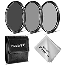 Neewer® 67MM ND Filter Set (ND2 ND4 ND8)+Cleaning Cloth for CANON 18-135mm EF-S IS STM Lens, NIKON 18-105mm f/3.5-5.6 AF-S DX VR ED Lens, PENTAX 18-135mm f/3.5-5.6 ED AL (IF) DC WR Lens