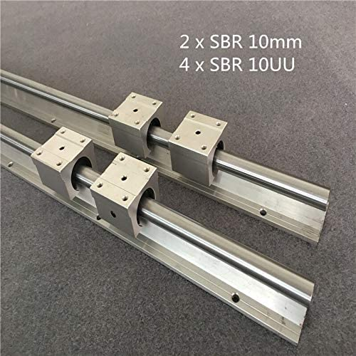 Nologo WJW-DAOGUI, 1set 2ST SBR 10mm Linearschiene 2ST SBR10 1200 1500mm voll unterstützt Gleitwelle Stangenführung mit 4pcs SBR10UU-Block (Size : 1200mm)
