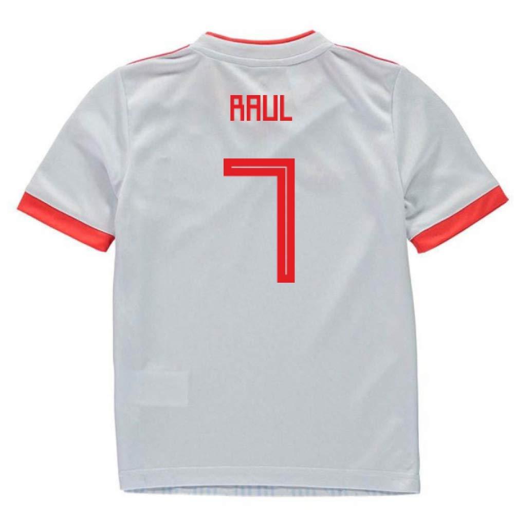 UKSoccershop 2018-2019 Spain Away Adidas Mini Kit (Raul 7)