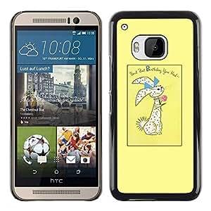 Paccase / SLIM PC / Aliminium Casa Carcasa Funda Case Cover para - Easter Bunny Holidays Rabbit - HTC One M9