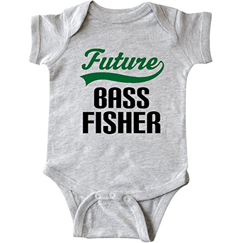 - inktastic - Future Bass Fisher Infant Creeper 6 Months Heather Grey 14b4b