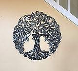 Tree of Life Metal Wall Art, Contemporary Iron