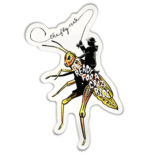 Decal Hopper (The Fly Crate Rodeo Hopper Fly Fishing Decal Sticker)
