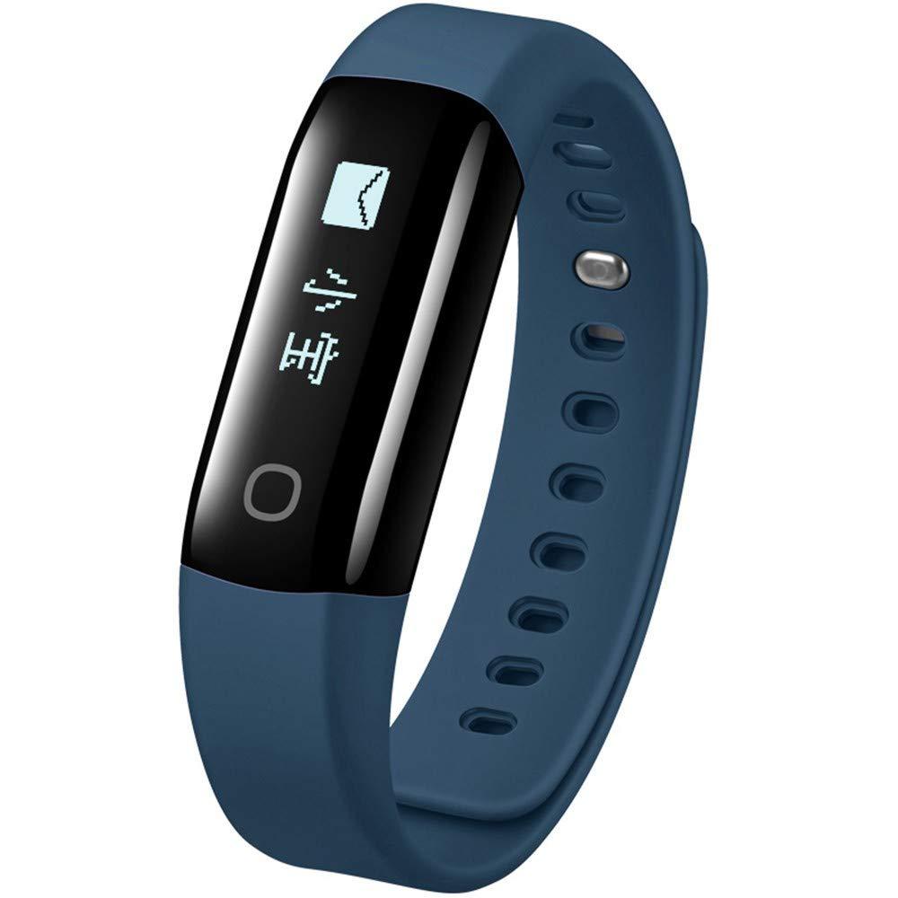 MI-Pedometri Smart Armband Herzfrequenz Armband Touchscreen Version Anrufer ID Vibration Erinnerung Smart Lauferkennung Schrittzähler wasserdicht Profisport Armband tiefblau