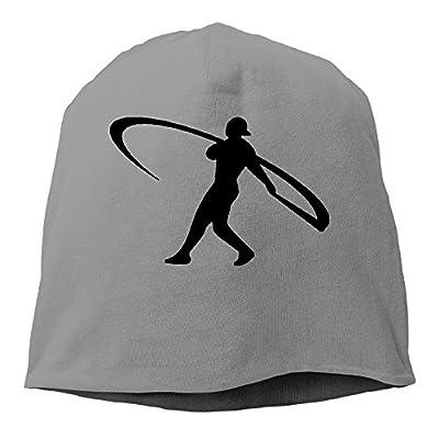 YUVIA Ken Griffey Jr. Men's&Women's Patch Beanie RunningDeepHeather Caps For Autumn And Winter
