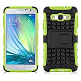 JAMMYLIZARD [ Samsung Galaxy A5 Case ] ALLIGATOR Heavy Duty Double Protection Rugged Back Cover, Lime Green