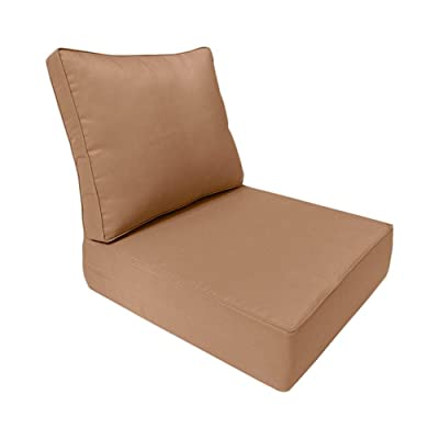 PROLINEMAX Piped Trim Medium 24x26x6 Deep Seat + Back Slip Cover Only Outdoor Polyester AD104: Home & Kitchen