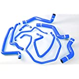 Autobahn88 Radiator Coolant & Heater Silicone Hose Kit for 2003-2012 Mazda RX8 SE3P 13B MSP (Blue -with Clamp Set)