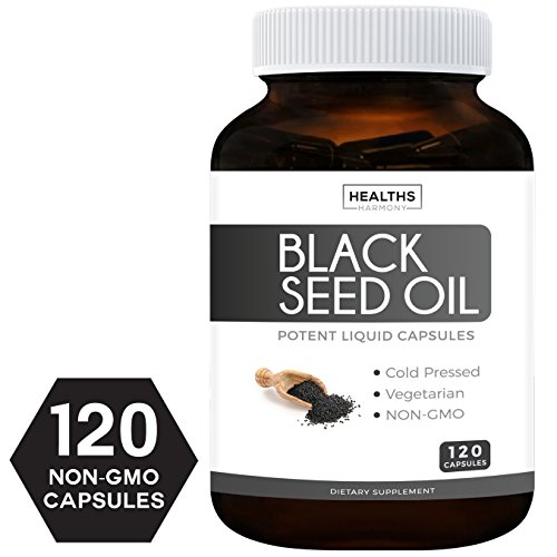 Best Black Seed Oil 120 Softgel Capsules (Non-GMO & Vegetarian) Made from Cold Pressed Nigella Sativa Producing Pure Black Cumin Seed Oil - Made in The USA - 500mg Each (Cumin Seed Essential Oil)