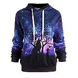 Goddessvan Holloween Sweatshirt, 2017 Fashion Women Wolf Printing Baseball Hoodie Jackets Outdoor Loose Outwear Coats Blouse (2XL, Purple)