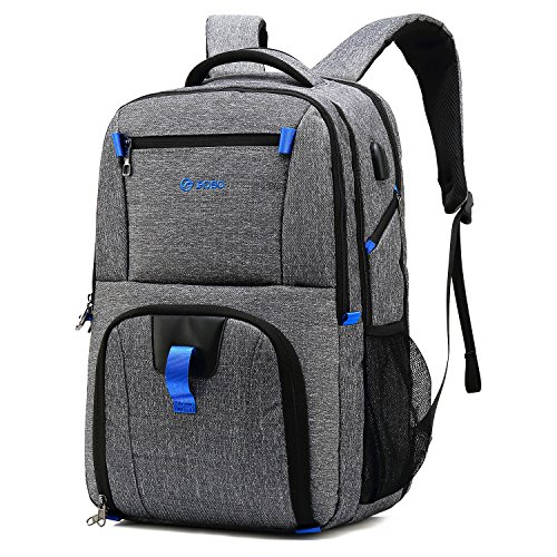 Large Laptop Backpack 17.3 Inches Computer Bag For Men, With USB Port, TSA Friendly Rucksack Bookbag For Business Travel College (Security Friendly Backpack)