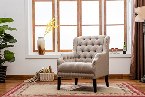 Best Quality Furniture AC175 Upholstered Arm Chair by Best Quality