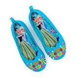 Authentic Disney Store, Frozen - Elsa, Anna - Pump ballet style Costume Shoes For Girls / Kids - Embroidered floral pattern - SIZE UK 8 -- EU ; 26