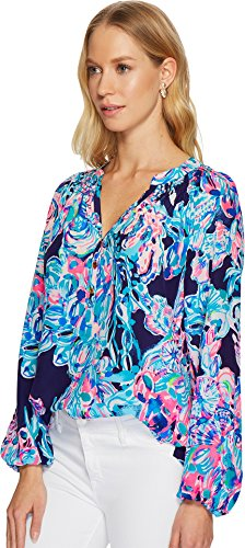 Lilly Pulitzer Women's Elsa Top Bright Navy Caught Up X-Large by Lilly Pulitzer (Image #1)