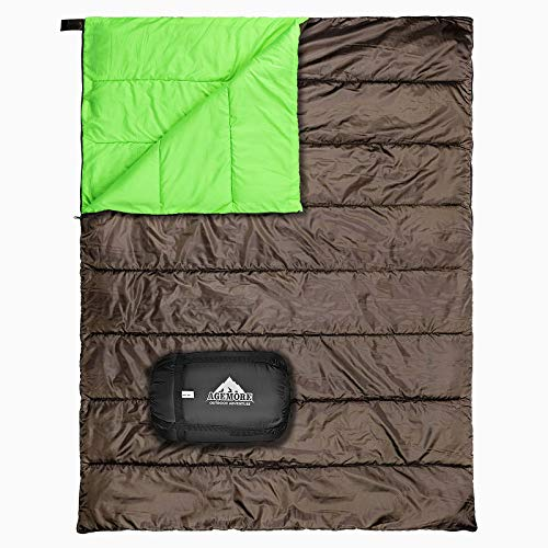 Double Sleeping Bag for Camping, Waterproof Lightweight 2 Person Adults Sleeping Bag for Backpacking, Hiking, Adults Or Teens. Truck, Tent, Or Sleeping Pad