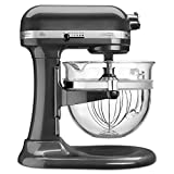 kitchen aid 600 pro mixer pasta - KitchenAid KF26M1QPM Pro 600 Deluxe Stand Mixer, Pearl Metallic, 6 Qt