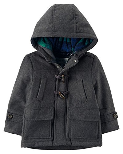 Other Wool Coat (Carter's Baby Toddler Boys' Faux Wool Heavyweight Toggle Jacket, Charcoal, 4T)
