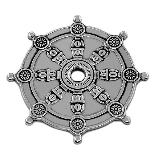 Dharma Wheel Buddhism Symbol Dharmachakra Amulet Solid Sterling 925
