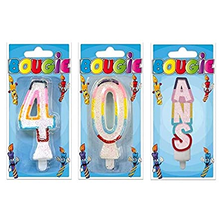S R/BBC0-1 - Velas de cumpleaños (40 años, Purpurina ...