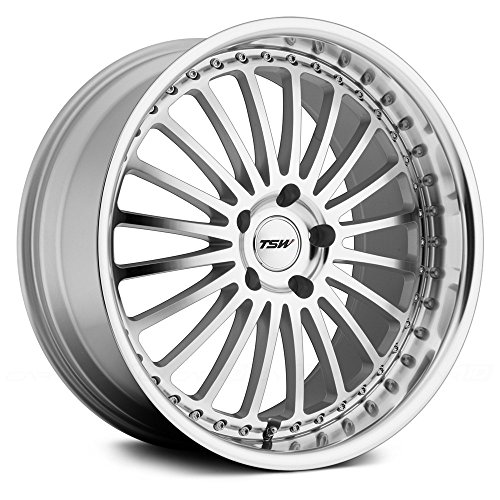 TSW Silverstone Silver Wheel with Machined Lip (19x8