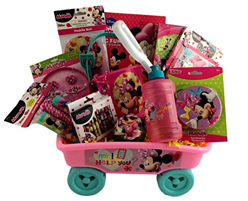 Minnie Mouse Themed Gift Basket Wagon and Shovel Birthday Get Well Christmas Care Package (Easter Care Package)