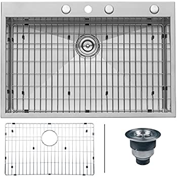 Glacier Bay All-in-One Dual Mount Stainless Steel 33x22x9 4-Hole ...