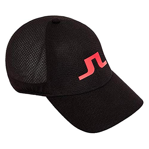 J.Lindeberg Ace Mesh Seamless 86MG Golf Cap Black Large