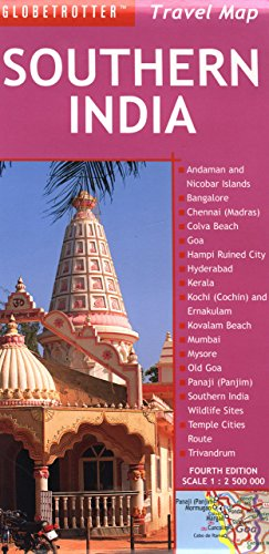 Southern India Travel Map (Globetrotter Travel Map)