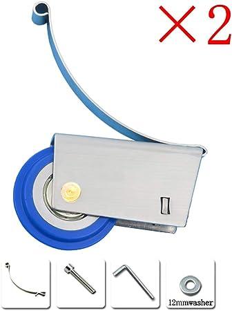 2 × Polea Para Puerta Corrediza De Acero Inoxidable - Rueda De Nylon Azul Silencioso Y Resistente
