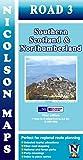 Nicolson Map 03. Southern Scotland & Northumberland 1 : 250 000 (Nicolson Road Maps)