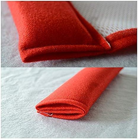 6.5cm C/ómodo Reposacabezas Ajustable Esponja Hombrera Evitar la Fricci/ón Roja 26.5 Coche Almohadillas para Cintur/ón de Seguridad