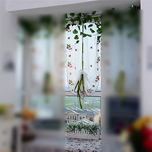 80X100cm Floral Door Window Curtain Attractive Flower Color Tulle Drape Panel Sheer Scarf Valance Joli Gift Cafe Kitchen Decor Tulle Vanity